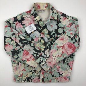 Vintage Floral Jean Jacket by Helium